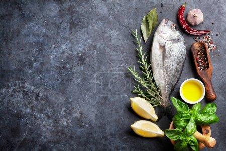 Raw fish cooking ingredients