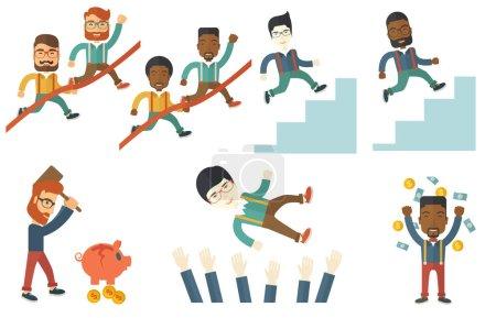向量组的商界人士的插图._高清图片_邑石网