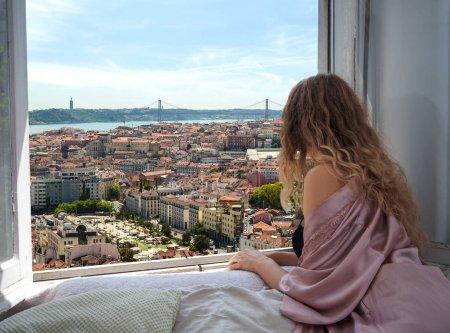 从旅馆的窗口,在葡萄牙的美丽视图