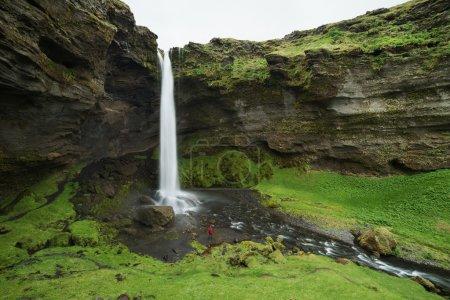 旅游看冰岛最大的瀑布