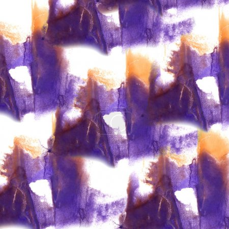 abstract Lilac, orange drawing stroke ink watercolor brush water