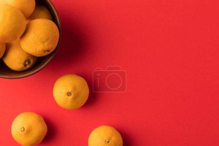 fresh tangerines in bowl