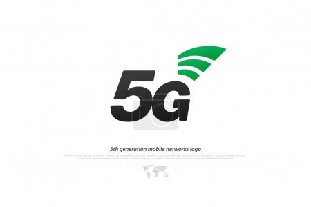 5th generation mobile network logotype. isolated vector 5G icon