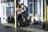 Sportive woman in gym