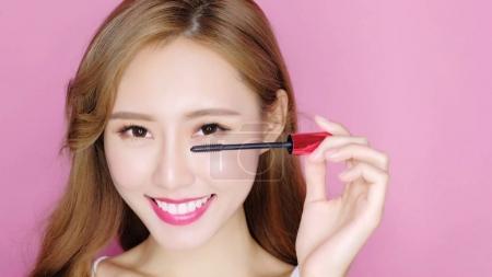 beauty woman with  mascara