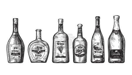手绘套瓶为酒吧.