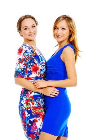 两个姐妹。美丽时尚._高清图片_邑石网