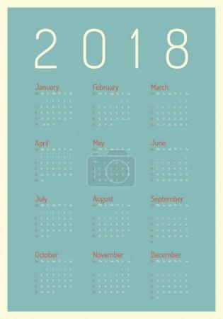 简约的海报阶梯。向量模板2018年新年日历在干净的极小的桌简单的样式 _高清图片_邑石网