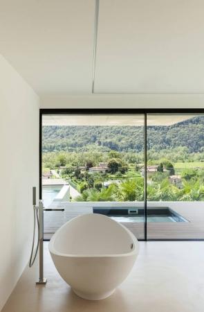 房子、 室内、 现代建筑、 浴室景观