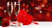 情人节香槟庆祝