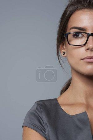 有魅力的女人,在眼镜