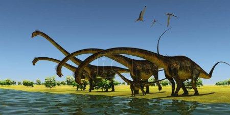 Jurassic Barosaurus Dinosaurs