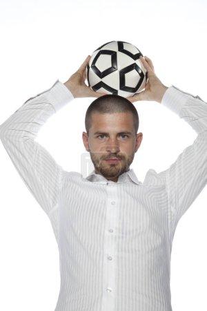 扔一个球的商人 _高清图片_邑石网
