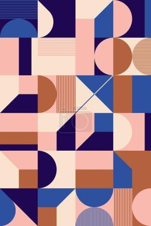 具有粗体几何形状的矢量抽象符号的解构后现代灵感艺术品,适用于网络背景、海报艺术设计、杂志头版、高科技印刷品、封面艺术品._高清图片_邑石网