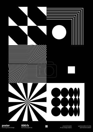 B0尺寸矢量造型的后现代平面设计,以现代主义和极简主义的野蛮风格创作,适用于海报艺术、杂志头版、装饰印刷品、网页横幅艺术作品._高清图片_邑石网
