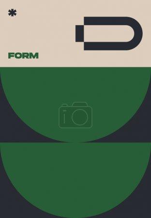 新的超现代主义美学在抽象海报设计布局中的应用.瑞士的设计启发了矢量图形卡片,这些卡片采用抽象的几何形状和文字,可用于海报艺术和数字印刷._高清图片_邑石网