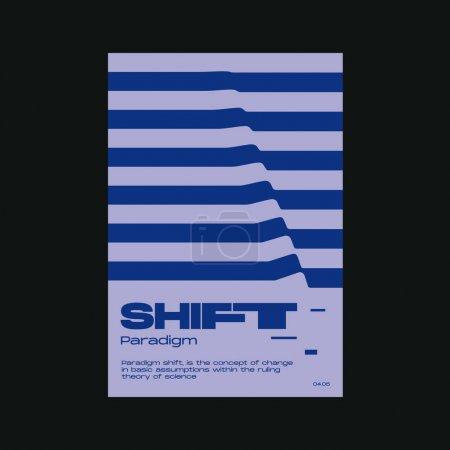 梅塔现代美学的瑞士设计海报布局.残忍的艺术激发了矢量图形模板的灵感,它是用粗体字体和抽象几何形状制作的,很适合海报艺术,相册封面印刷._高清图片_邑石网