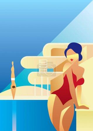 夏季假期。创意概念向量。夏季度假