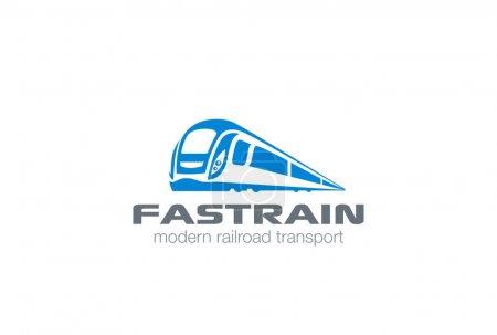 Modern Train silhouette Logo