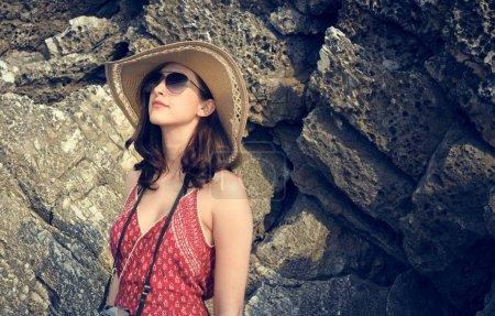 美丽的女人的帽子