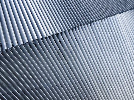 钢结构模式的体系结构细节门面现代建筑