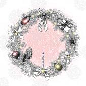 圣誕花環幀
