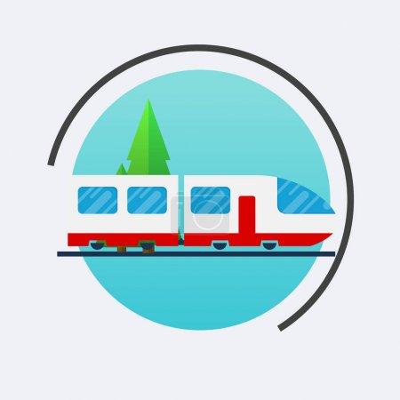 Modern train icon