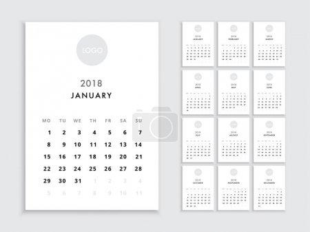 2018 日历模板_高清图片_邑石网