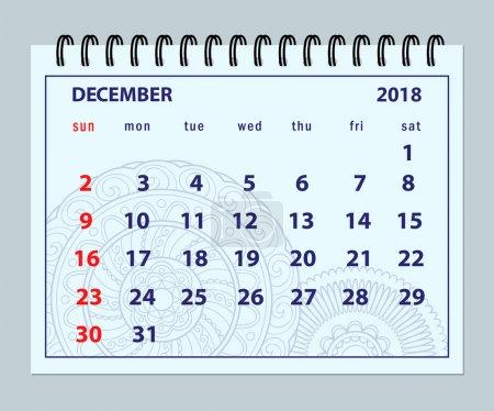 12 月 2018 曼荼罗背景上的蓝色页面_高清图片_邑石网