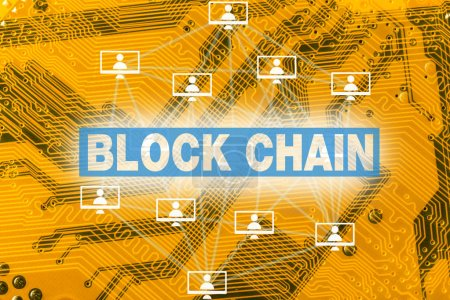 block chain technology concept