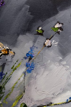Oil painting still life with  flowers