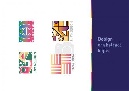 设置几何抽象徽标的现代艺术_高清图片_邑石网