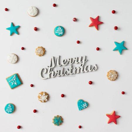 与铭文圣诞圣诞饼干