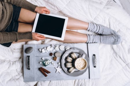 coffee in bed concept