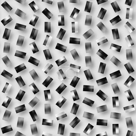 分散着色的几何形状。抽象的无缝单色图案